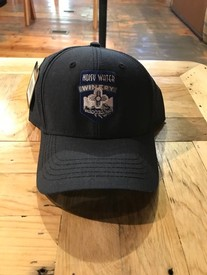 Noisy Water Embroidered Hat Blue